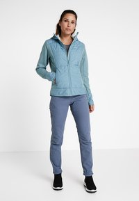 Salomon - RIGHT NICE HYBRID HOODIE - Outdoor jacket - smoke blue - 1