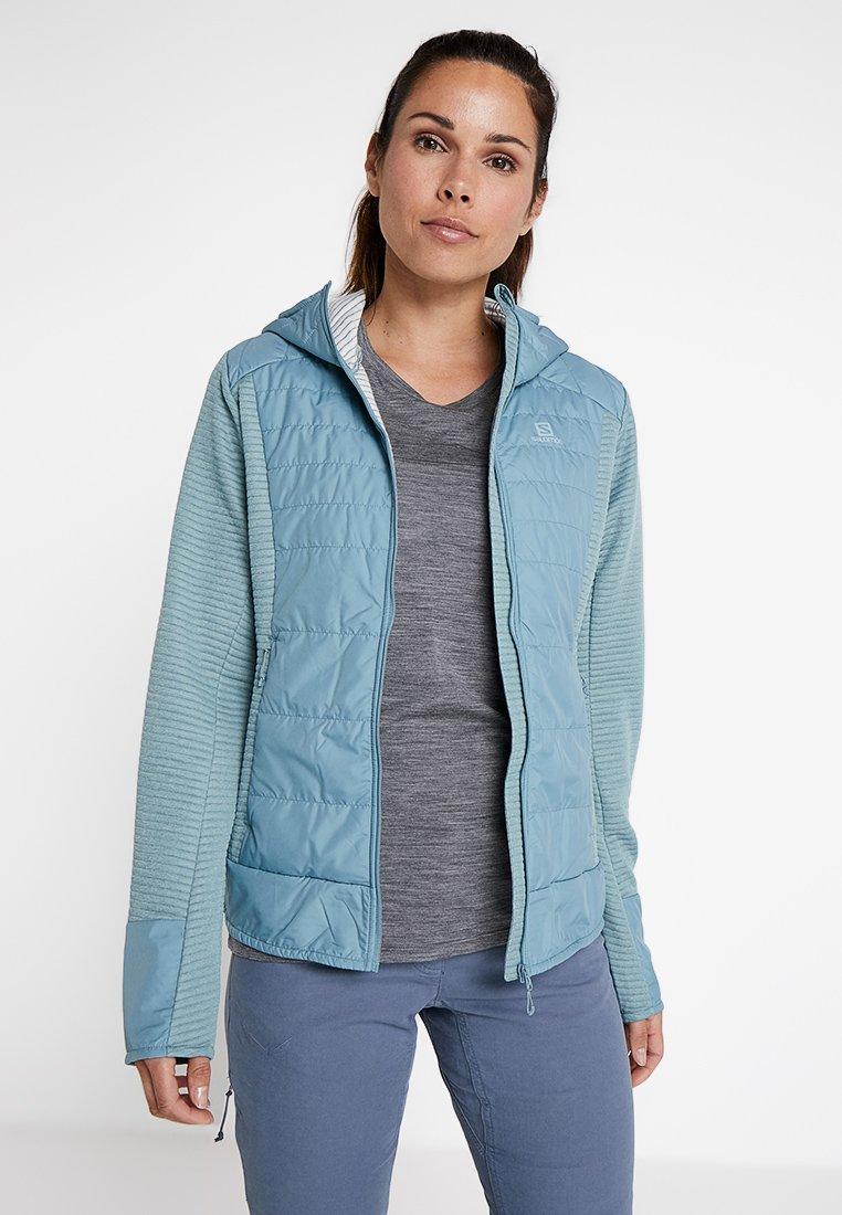 Salomon - RIGHT NICE HYBRID HOODIE - Outdoor jacket - smoke blue