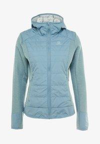 Salomon - RIGHT NICE HYBRID HOODIE - Outdoor jacket - smoke blue - 3