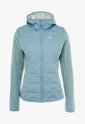 RIGHT NICE HYBRID HOODIE - Kurtka Outdoor - smoke blue