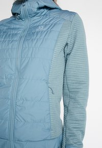 Salomon - RIGHT NICE HYBRID HOODIE - Outdoor jacket - smoke blue - 4