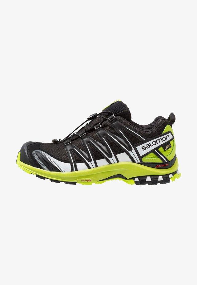 XA PRO 3D GTX - Běžecké boty do terénu - black/lime green/white