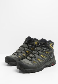 Salomon - X ULTRA 3 MID GTX - Hiking shoes - castor gray/black/green sulphur - 2
