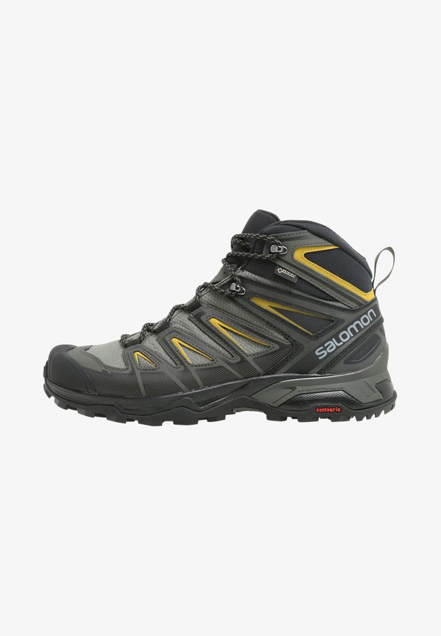 X ULTRA 3 MID GTX - Scarpa da hiking - castor gray/black/green sulphur
