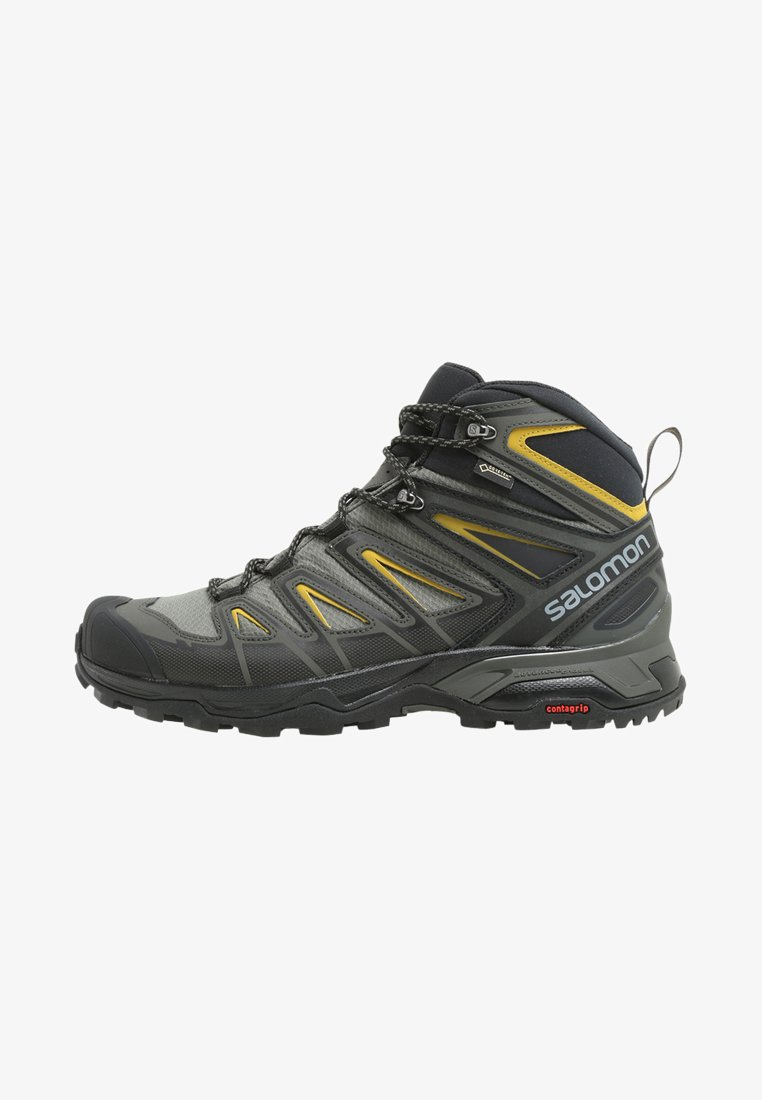 Salomon - X ULTRA 3 MID GTX - Scarpa da hiking - castor gray/black/green sulphur