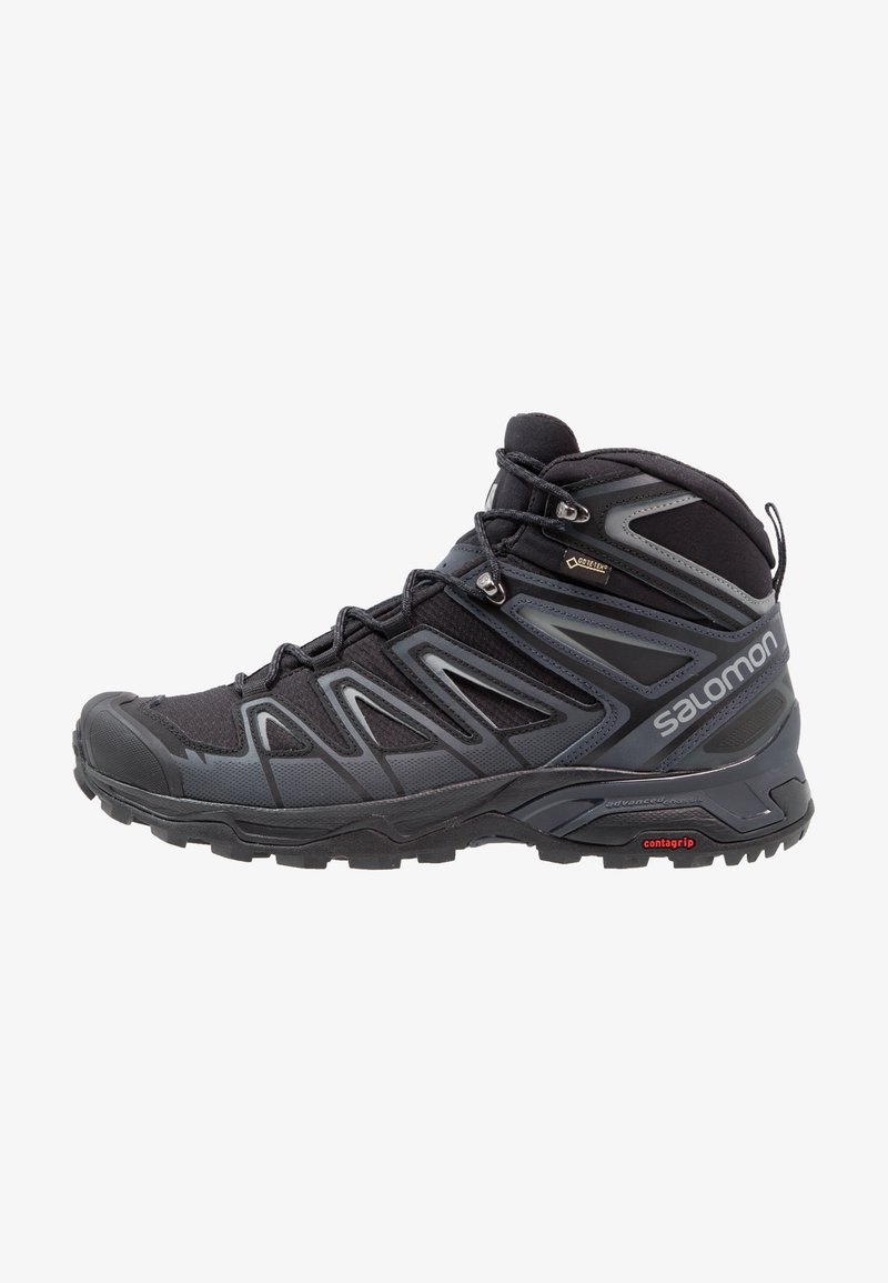 Salomon - X ULTRA 3 MID GTX - Hiking shoes - black/india ink/monument