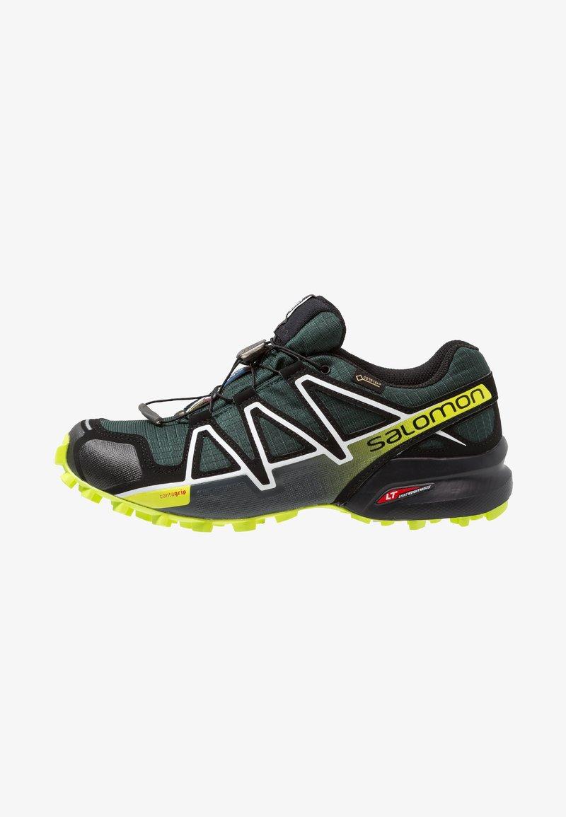 Salomon - SPEEDCROSS 4 GTX - Trail running shoes - darkest spruce/black/acid lime