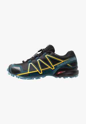 SPEEDCROSS 4 GTX - Zapatillas de trail running - black/reflecting pond/spectra yello