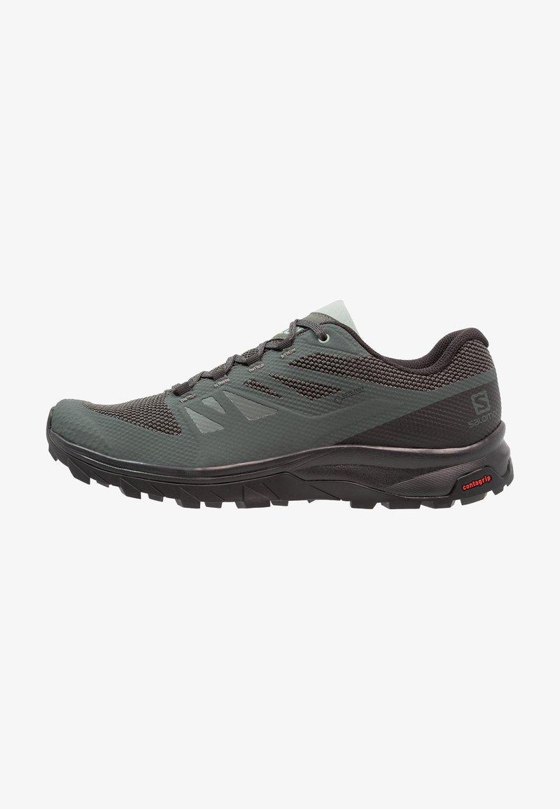 Salomon - OUTLINE GTX - Hiking shoes - urban chic/black/green milieu