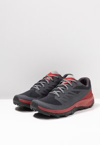 Salomon - OUTLINE - Trekingové boty - ebony/red dahlia/frost gray - 2