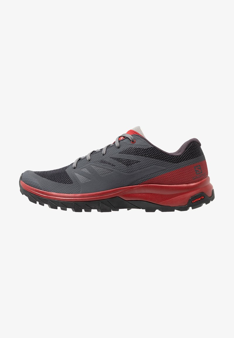 Salomon - OUTLINE - Trekingové boty - ebony/red dahlia/frost gray