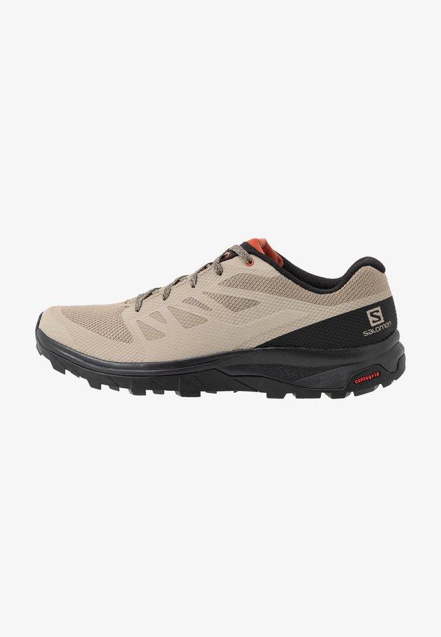 OUTLINE - Zapatillas de senderismo - vintage kaki/black/burnt brick
