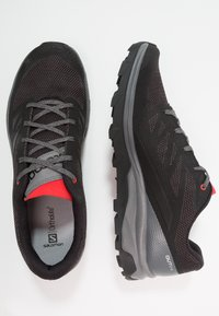 Salomon - OUTLINE - Hiking shoes - black/quiet shade/high risk red - 1