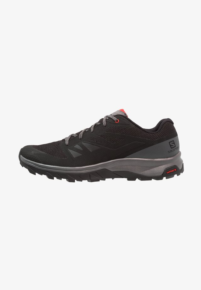OUTLINE - Hikingschuh - black/quiet shade/high risk red
