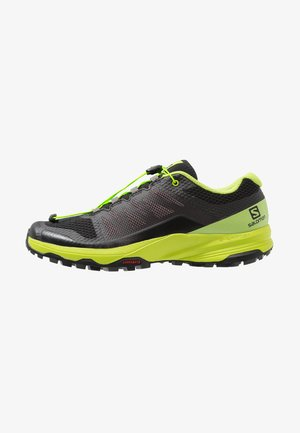 XA DISCOVERY - Trail running shoes - black/lime green/magnet