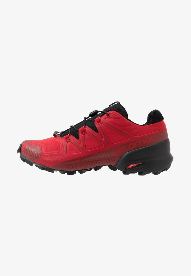 SPEEDCROSS 5 - Trail hardloopschoenen - barbados cherry/black/red dahlia