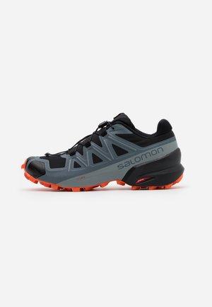 SPEEDCROSS 5 - Obuwie do biegania Szlak - black/stormy weather/red orange