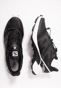Salomon - SUPERCROSS MEN - Trail running shoes - black/white - 1