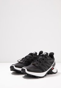 Salomon - SUPERCROSS MEN - Trail running shoes - black/white - 2