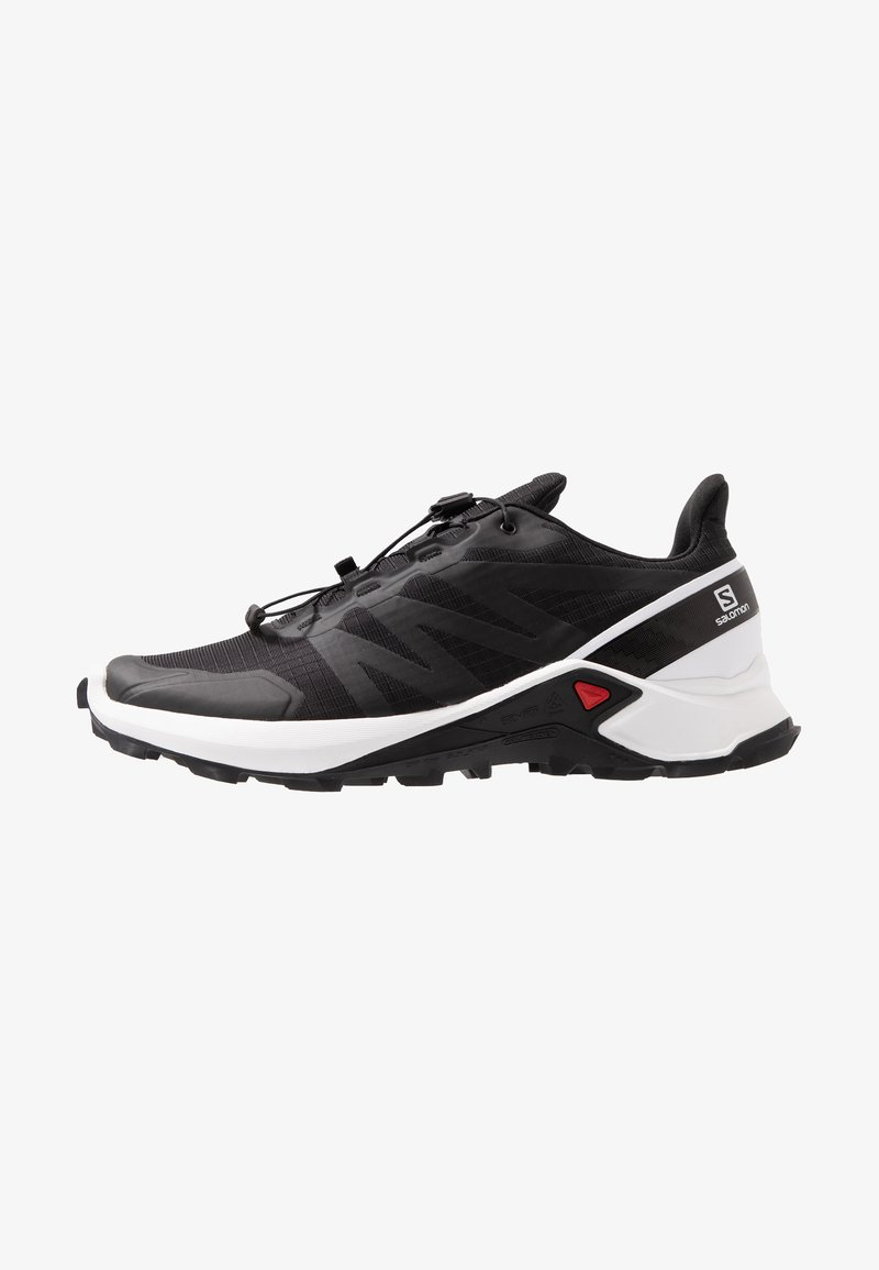 Salomon - SUPERCROSS MEN - Trail running shoes - black/white