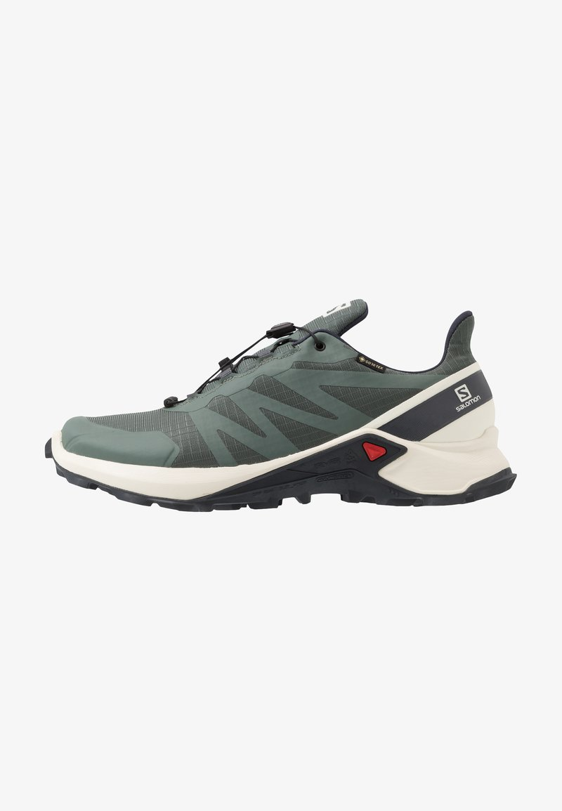 Salomon - SUPERCROSS GTX - Trail running shoes - balsam green/vanilla ice/india ink