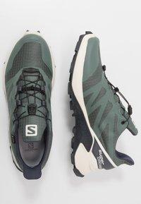 Salomon - SUPERCROSS GTX - Trail running shoes - balsam green/vanilla ice/india ink - 1