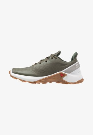 ALPHACROSS - Běžecké boty do terénu - grape leaf/white