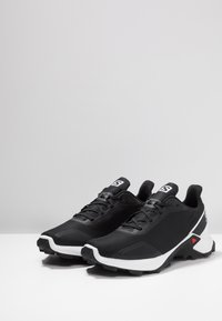 Salomon - ALPHACROSS - Zapatillas de trail running - black/white/monument - 2