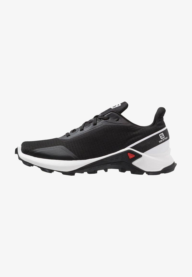 Salomon - ALPHACROSS - Zapatillas de trail running - black/white/monument