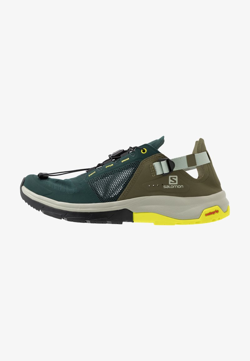 Salomon - TECH AMPHIB 4 - Hiking shoes - green gables/burnt olive/evening primrose