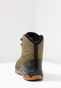 Salomon - OUTBLAST TS CSWP - Śniegowce - burnt olive/phantom/black - 3