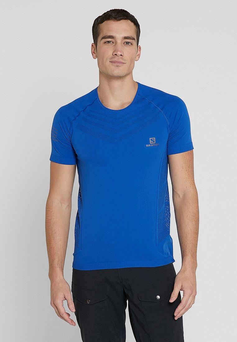 Salomon - SENSE PRO TEE - T-shirt imprimé - nautical blue