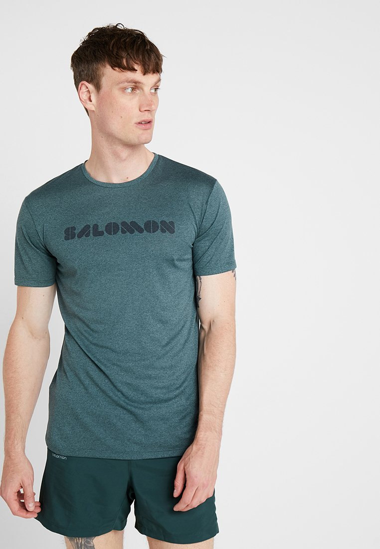 Salomon - AGILE GRAPHIC TEE  - T-Shirt print - green