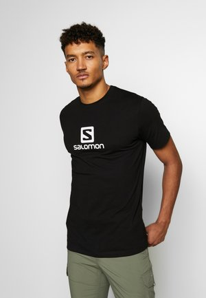 LOGO TEE - T-shirt med print - black/white