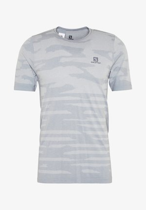 CAMO TEE - T-shirt z nadrukiem - alloy/heather