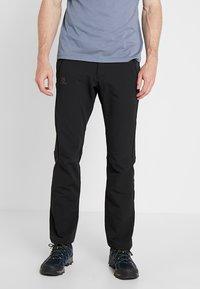 Salomon - WAYFARER WARM STRAIGHT PANT  - Pantaloni - black - 0