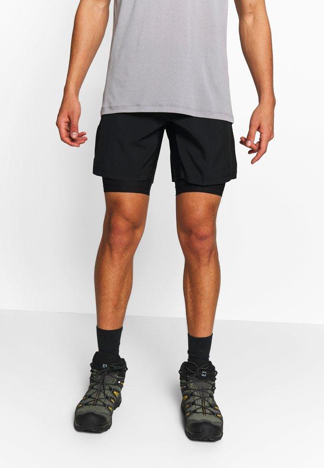 AGILE TWINSKIN SHORT  - Sportovní kraťasy - black