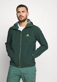 Salomon - OUTLINE - Hardshell jacket - green gables/lemon curry - 0