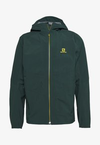Salomon - OUTLINE - Hardshell jacket - green gables/lemon curry - 5