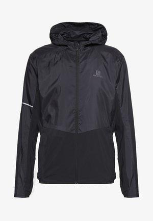 AGILE HOODIE - Outdoorová bunda - black