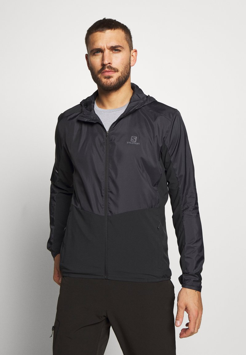 Salomon - AGILE HOODIE - Outdoor jacket - black