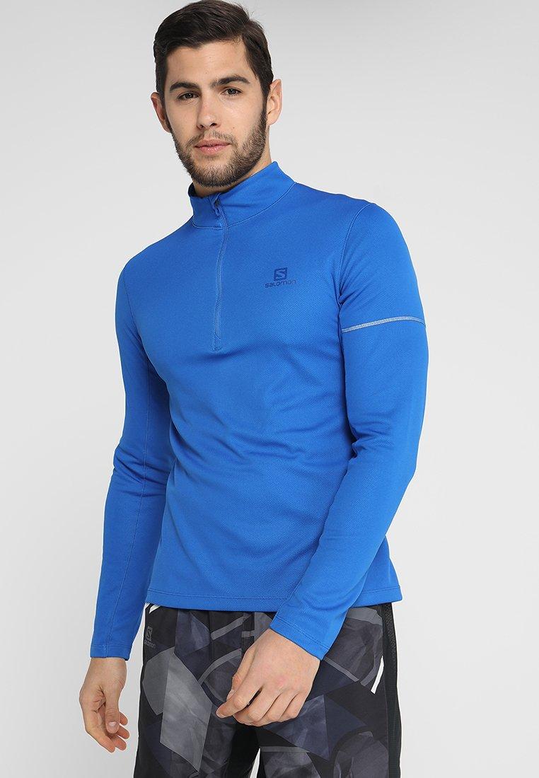 Salomon - AGILE MID  - Sports shirt - nautical blue/blithe