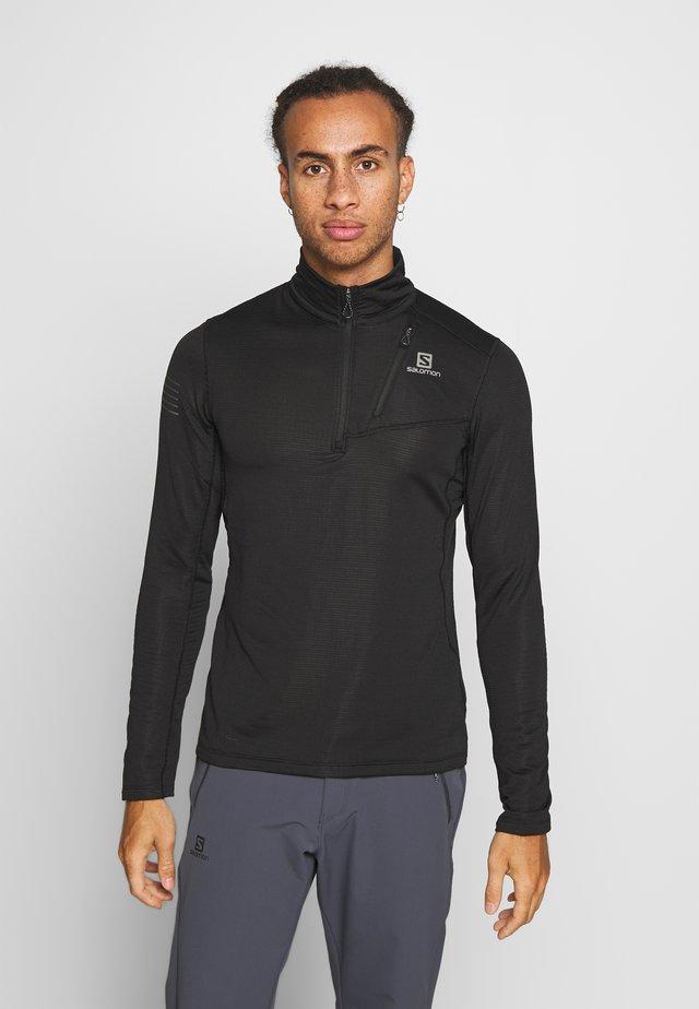 GRID MID - Long sleeved top - black