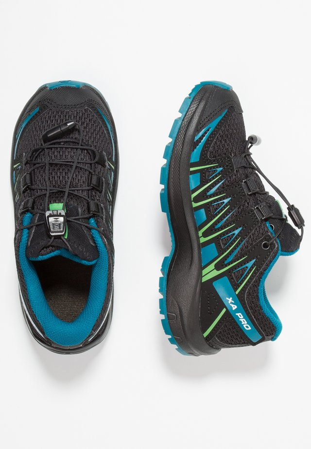 XA PRO 3D - Hiking shoes - black/deep lagoon/onlime lime