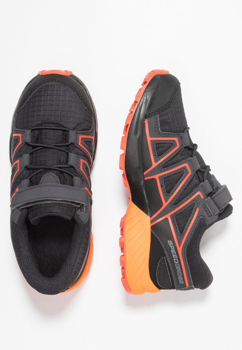 Salomon - SPEEDCROSS CSWP  - Outdoorschoenen - black/tangelo/cherry tomato