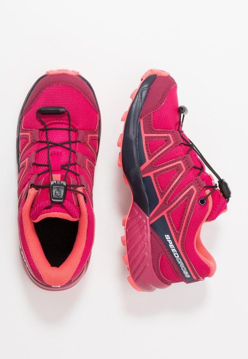 Salomon - SPEEDCROSS - Chaussures de running - cerise/navy blaze/dub