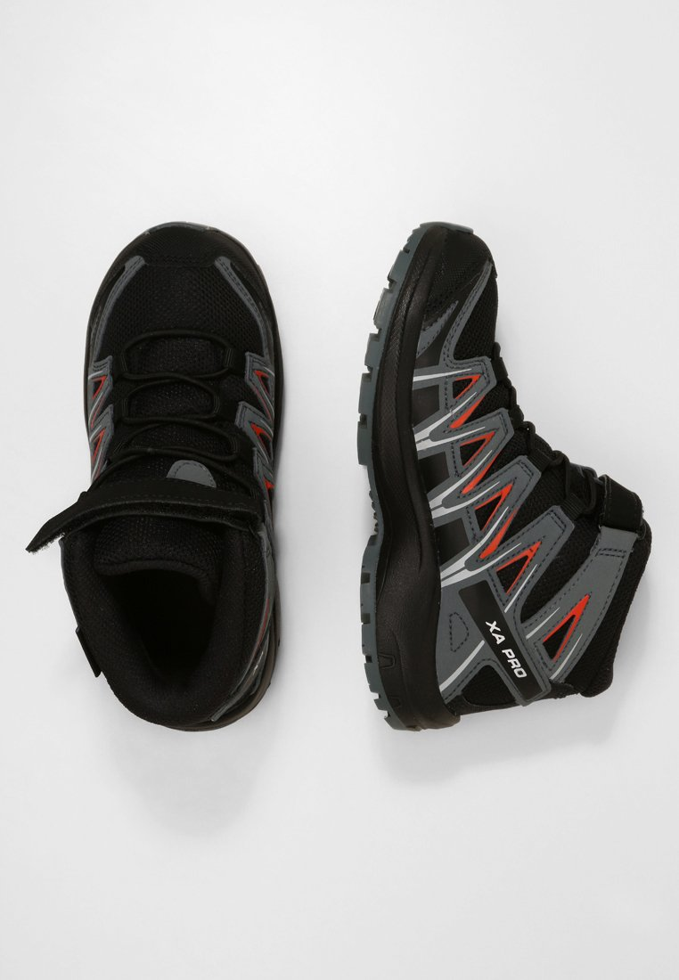 Salomon - XA PRO 3D MID  - Outdoorschoenen - black/stormy weather/cherry tomato