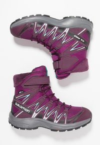 Salomon - XA PRO 3D WINTER TS CSWP - Winter boots - dark purple/potent purple/atlantis - 0