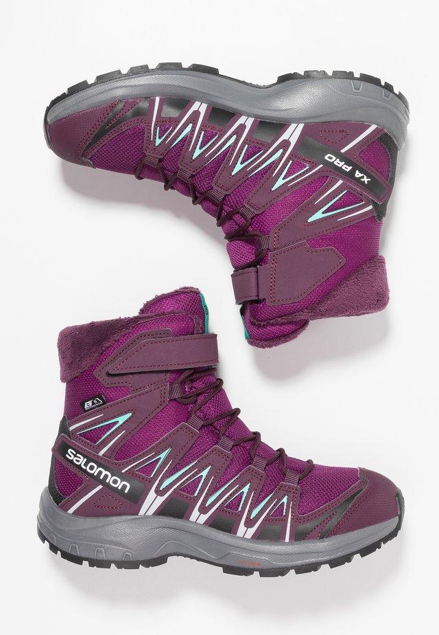 XA PRO 3D WINTER TS CSWP - Talvisaappaat - dark purple/potent purple/atlantis