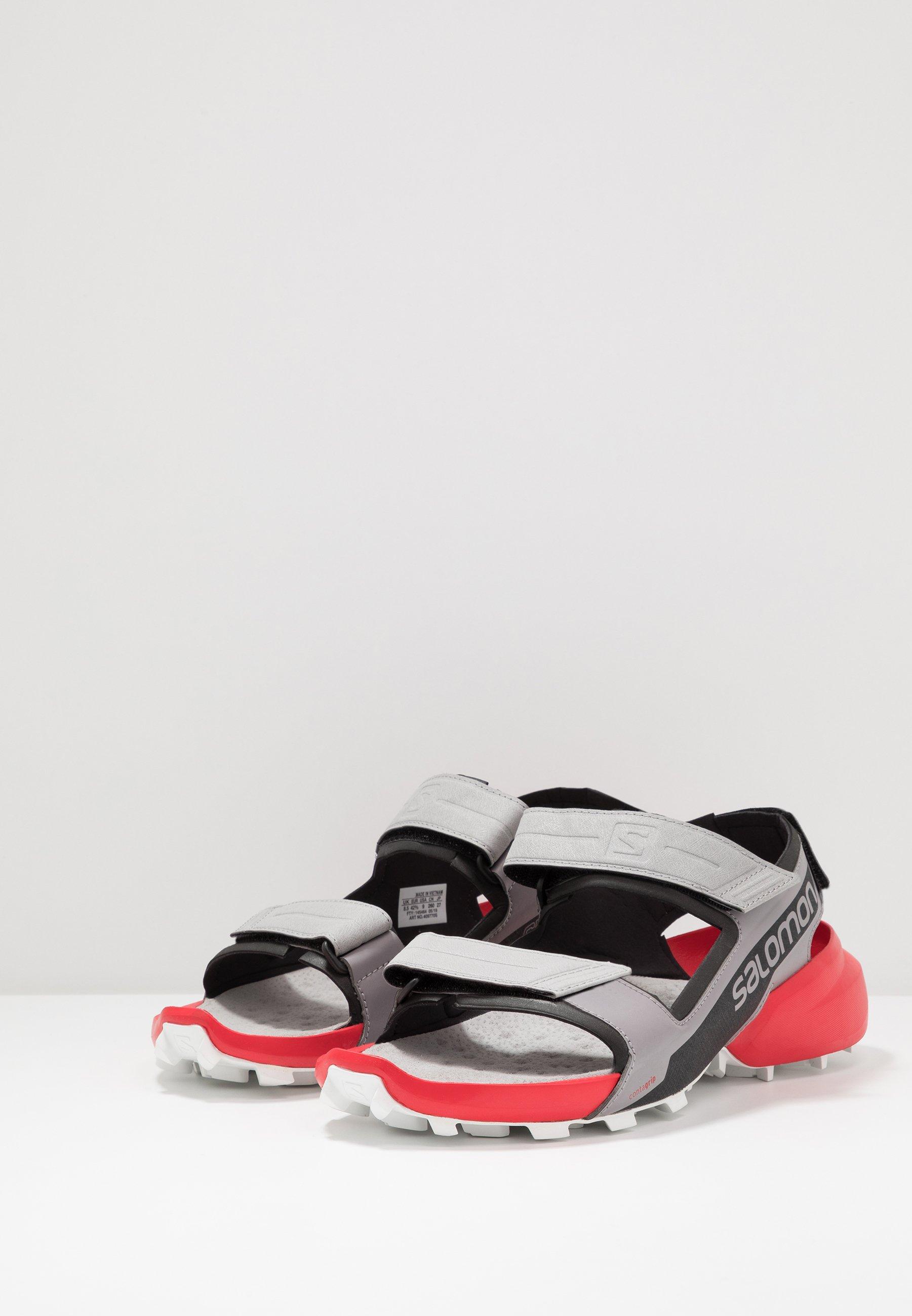 Salomon SPEEDCROSS - Sandali da trekking - alloy/black/high risk red